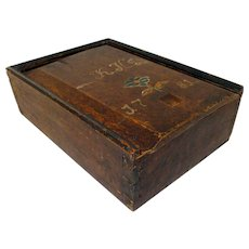 Paint Decorated Slide Lid Candle Box Dated 1781