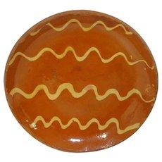 19th C. PA Slipware Plate