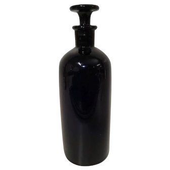 19th C. Cobalt Blue Apothecary Bottle
