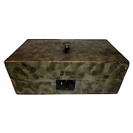 19th C. Document Box w/ Original Smoke Paint