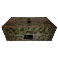 19th C. Document Box w/ Original Smoke Paint