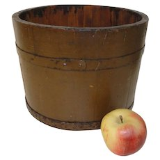 19th C. Pine 8 qt. Measure Old Nutmeg Paint