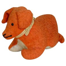 Vintage Early 1900's Straw Stuffed Puppy Dog