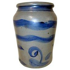 2 Gal. Western Pennsylvania Blue Decorated Stoneware Crock