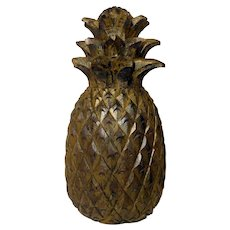 Early 1900's Solid Wood Carved Pineapple