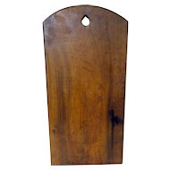 "19th C. Walnut ""Tombstone"" Dough Board"