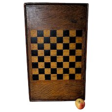 Large circa 1900 Checkers Gameboard with Inlay