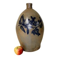 4 Gal Pennsylvania Stoneware Jug w/ Blue Decoration