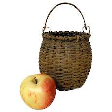 Late 19th C. Swing Handle Taghkanic Basket