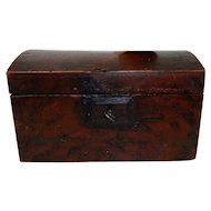 Small 1830's Dome Top Dovetail Paint Decorated Box