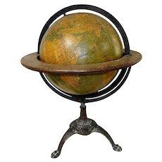 1900's Globe w/ Victorian Cast Iron Base Philadelphia