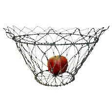 Wire Basket in White Paint c. 1900