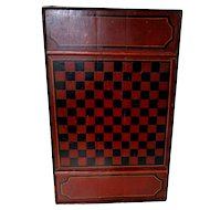 Three Color Checkerboard in Original Paint Circa 1890-1900