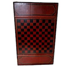 Three Color Checkerboard in Original Paint Circa 1890-1900