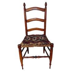 18th C. Child's Ladderback Chair