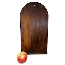 19th C. Small Pine Tombstone Cutting Board