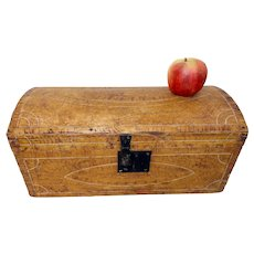 Fine Paint Decorated New England Document Box 1830