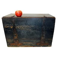 19th C. Pennsylvania Wagon Box w/ Original Blue Paint