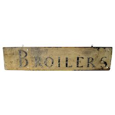 Late 19th C. Wooden Trade Sign