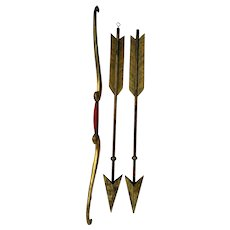 19th C Odd Fellows Lodge Ceremonial Bow and Arrows