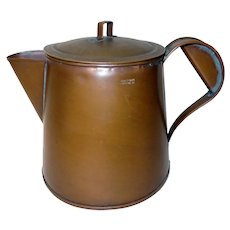 20th C. Copper Coffee Pot Signed Liverpool, PA