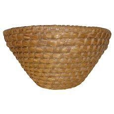 Tall 19th C. PA Rye Grass Basket