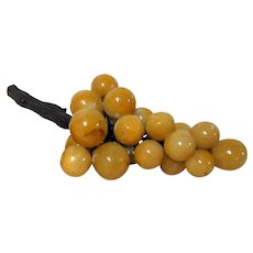 Large Bunch of Oversized Stoneware Grapes