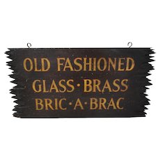 Two-Sided 1920's Adirondack Style Trade Sign
