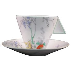 """Shelley Mode """"Gate and Path"""" Demitasse or Coffee Cup and Saucer"""