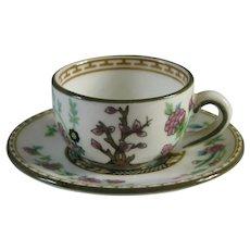 Coalport Indian Tree Miniature Cup and Saucer