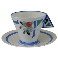 Shelley Mode Truncated J Coffee Cup and Saucer