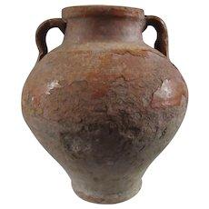 Terra Cotta Amphora Shaped Urn