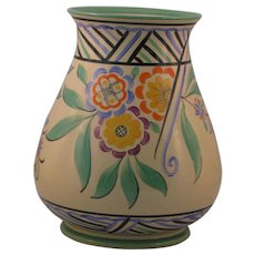 Wedgwood Art Deco Era Hand-Painted Vase