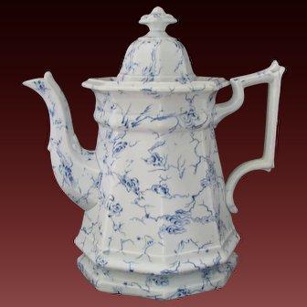 Antique John Wedgwood Ironstone Coffee Pot