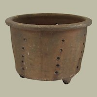 French Pottery Cheese Mold