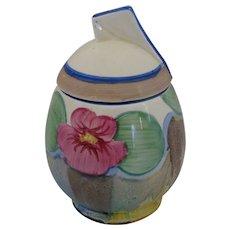 Clarice Cliff Delecia Pansy Preserve Jam Daffodil Shape