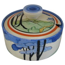 Clarice Cliff Blue Firs  Preserve Pot