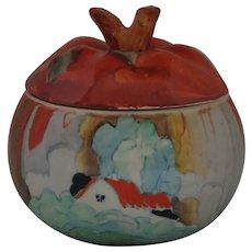 Clarice Cliff Forest Glen Apple Shape Honey Pot