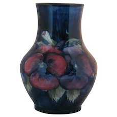 William Moorcroft Pansies Vase