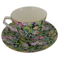 "Lord Nelson ""Black Beauty"" Chintz Teacup and Saucer"