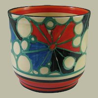 Clarice Cliff Red Broth Fern Pot