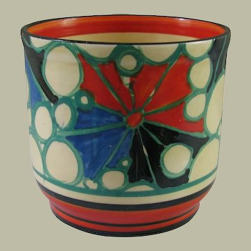 Clarice Cliff Red Broth Fern Pot
