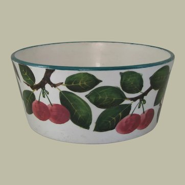 Antique Wemyss Bowl with Cherry Motif