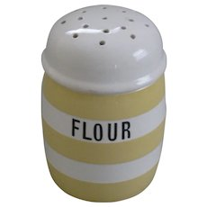 Vintage T.G. Green Yellow Cornish Ware Flour Sifter