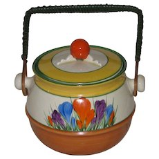 Clarice Cliff Autumn Crocus Biscuit Barrel
