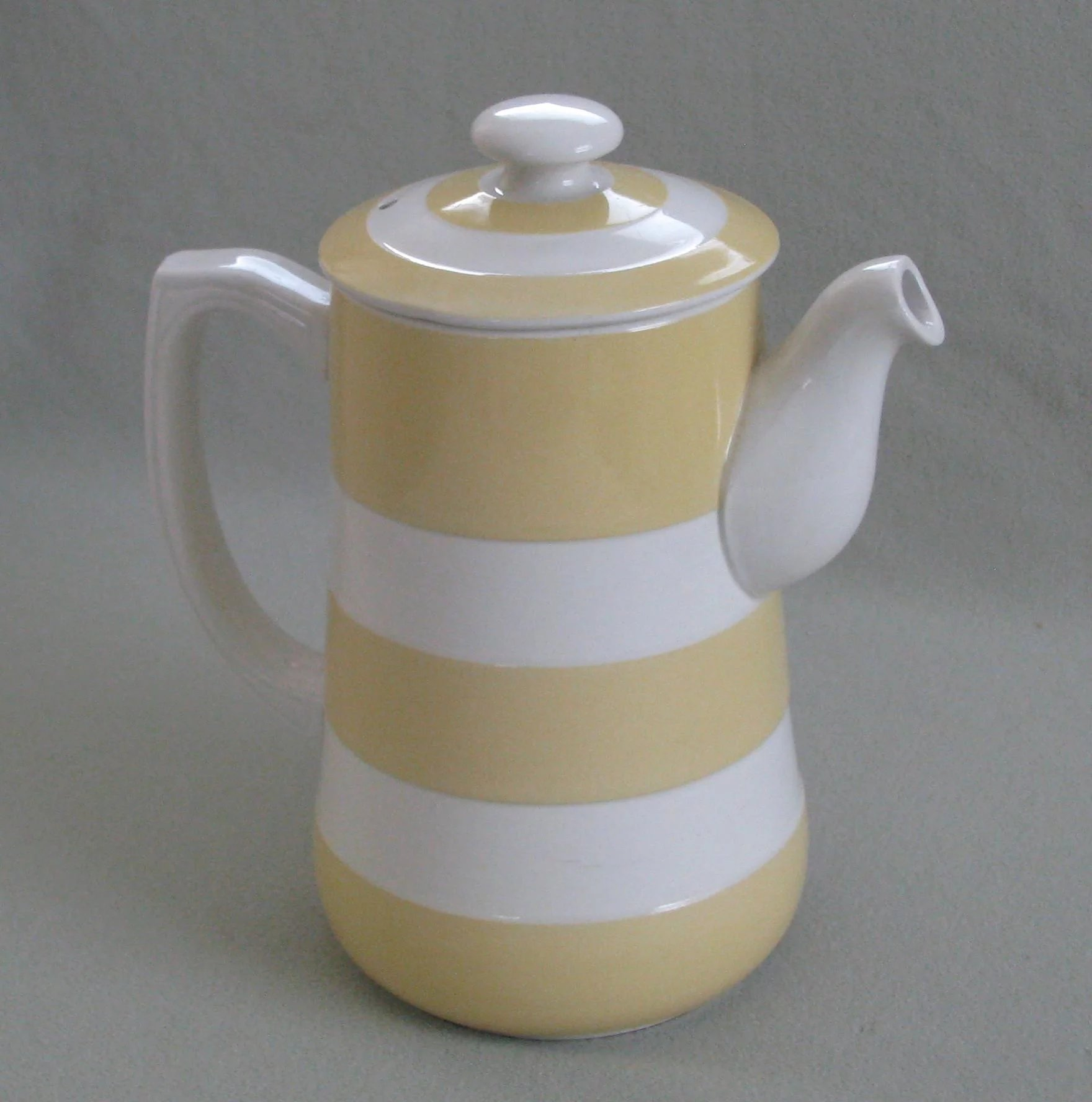 Click to expand & Vintage T.G. Green Yellow Cornish Ware Coffee Pot : Antiques from ...