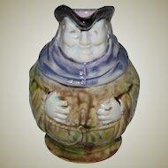 Majolica Small Jug of a Friar in a Rare Size