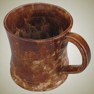 Antique Rockingham Glazed Yellow Ware Child's Sized Mug