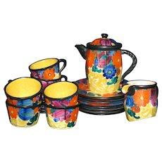Mrazek Czech Pottery Coffee Set for Six