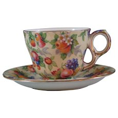 Vintage Evesham Coffee Cup and Saucer by Grimwades Royal Winton